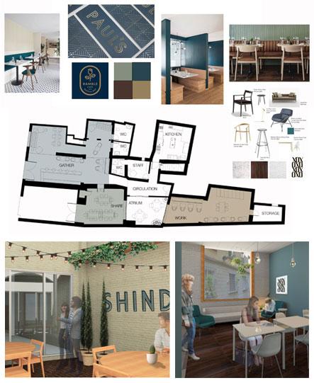 Fidi Interior Design Courses In Florence Italy An: FUA Intermediate Interior Design: Bar Cafeteria Project